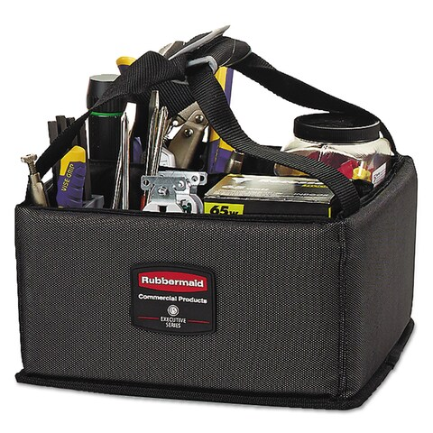Rubbermaid Commercial Small Dark Gray Executive Quick Cart Caddy