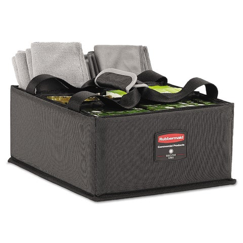Rubbermaid Commercial Large Dark Gray Executive Quick Cart Caddy