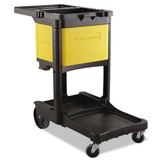 Rubbermaid Commercial Yellow Locking Cabinet For Rubbermaid Commercial Cleaning Carts