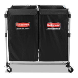 Rubbermaid Commercial Black/Silver 2 to 4 Bushel Collapsible X-Cart