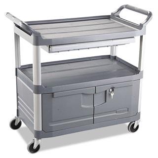 Rubbermaid Commercial Gray Three-Shelf Xtra Instrument Cart
