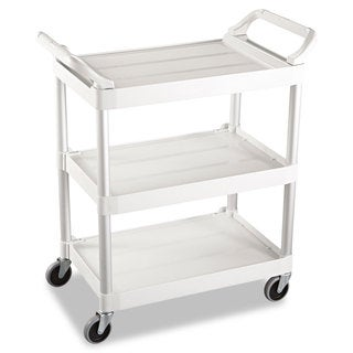 Rubbermaid Commercial Off-White Three-Shelf Service Cart