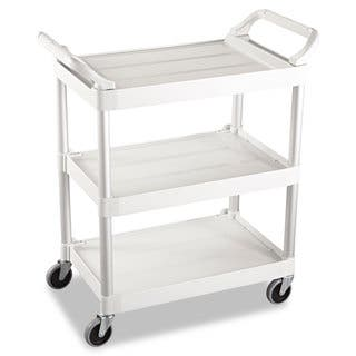 Rubbermaid Commercial Off-White Three-Shelf Service Cart https://ak1.ostkcdn.com/images/products/10665196/P17730509.jpg?impolicy=medium