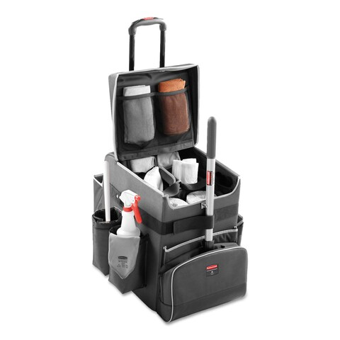 Rubbermaid Commercial Dark Gray Medium Executive Quick Cart