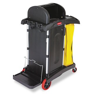 Rubbermaid Commercial Black High-Security Healthcare Cleaning Cart