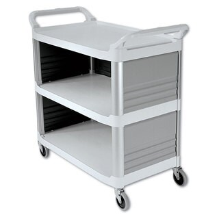 Rubbermaid Commercial Off-White Three-Shelf Xtra Utility Cart