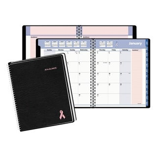 AT-A-GLANCE QuickNotes Special Edition Monthly Planner, 6 7/8 x 8 3/4, Black/Pink, 2018