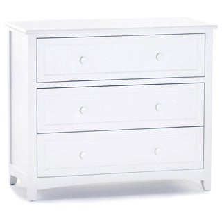 School House White 3-drawer Chest