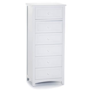 School House White 6-drawer Lingerie Chest