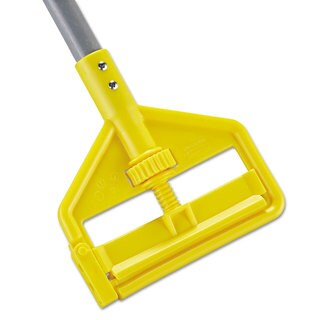 Rubbermaid Commercial Gray/Yellow Invader Fiberglass Side-Gate Wet-Mop Handle