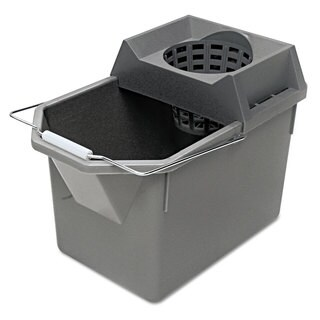 Rubbermaid Commercial Steel Gray Pail/Strainer Combination
