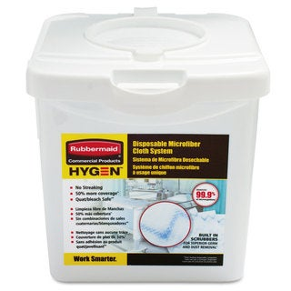 Rubbermaid Commercial HYGEN White Disposable Microfiber Charging Tub
