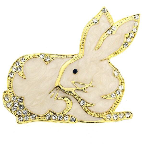 White King Hare Rabbit Pin Brooch