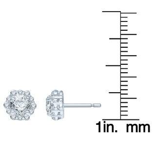 Unending Love 14k White Gold 1ct TDW Diamond Fashion Stud Earrings