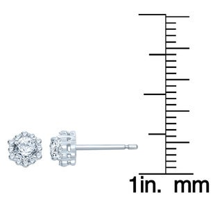 Unending Love 14k White Gold 1/2ct TDW Fashion Stud Earrings