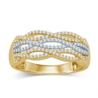 Unending Love 14k Two-tone Gold 1/3ct TDW Fashion Diamond Ring