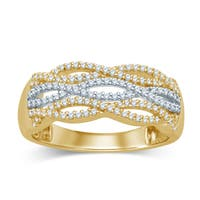 Unending Love 14k Two-Tone Gold 1/3 ctw Diamond Fashion Band ( I-J Color, I2-I3 Clarity )