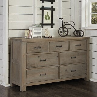 NE Kids Highlands Driftwood 7-drawer Dresser