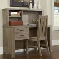 Highlands Collection Driftwood Desk and Hutch