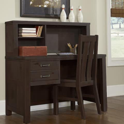 Hillsdale Highlands Espresso Desk & Hutch