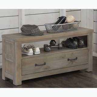 NE Kids Highlands Driftwood Dressing Bench