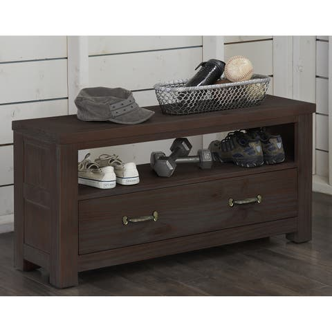 Highlands Collection Dressing Bench Espresso