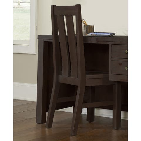 """Highlands Collection Chair Espresso - 17.75""""W x 19""""L x 40.25""""H"""