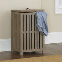 NE Kids Highlands Collection Driftwood Clothes Hamper
