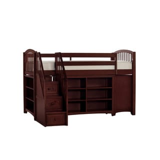 School House Junior Cherry Loft Bed with Storage