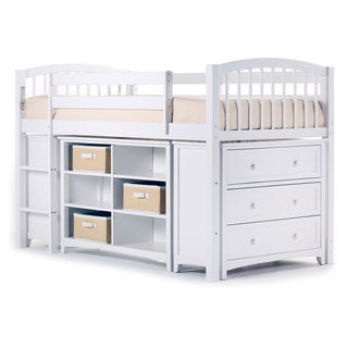 NE Kids School House White Junior Storage Loft