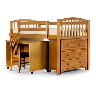 School House Junior Pecan Desk Loft (4-piece Set)