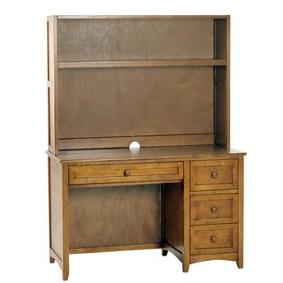 NE Kids School House Pecan Desk and Hutch
