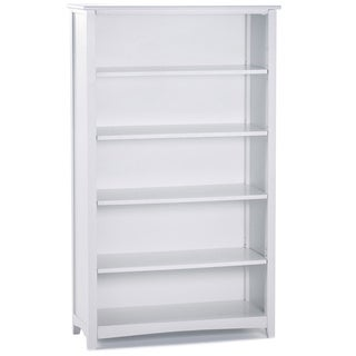 School House Tall Vertical Bookcase White