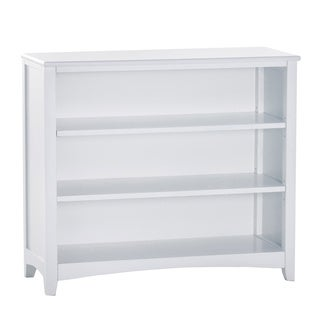 School House Short White Vertical Bookcase