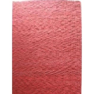 Textured Solid Pattern Red/Red Wool (5 x 8) Area Rug