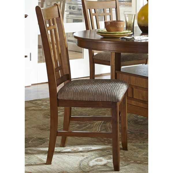 Liberty Santa Rosa Oak Mission Upholstered Dining Chair Set Of 2 On Free Shipping Today 10665682