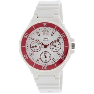 Casio Women's Classic LRW250H-4AV White Plastic Quartz Watch