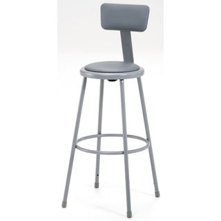 "Padded Stool ithinyl Seat and back-30""H"