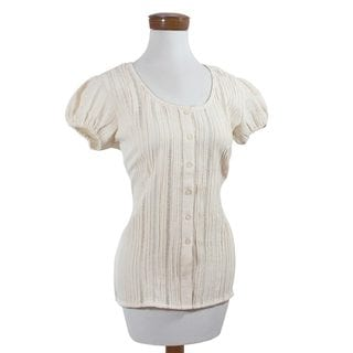 Handcrafted Women's Cotton 'Natural Beauty' Blouse (El Salvador)