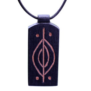 Handcrafted Teakwood 'Kasapa' Necklace (Ghana)
