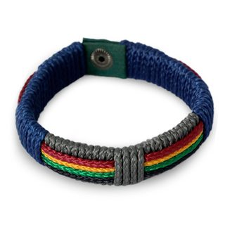 Men's Handcrafted Cord 'Traditions of Africa' Bracelet (Ghana)