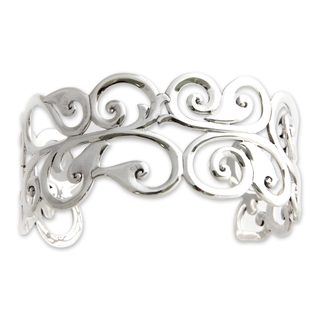 Handmade Sterling Silver 'Nature's Delight' Bracelet (Indonesia)