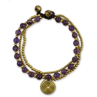 Link to Handmade Brass 'Daydreams' Amethyst Bracelet (Thailand) Similar Items in Bracelets