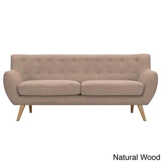 NyeKoncept Light Sand Ida Sofa (Natural Wood Color)