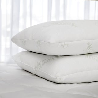 Slumber Shop Rayon from Bamboo and Polyester Cover with Natural Latex Plus Jumbo-size Pillow