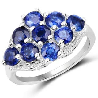 Olivia Leone Sterling Silver 3 2/5ct Kyanite Ring - Blue|https://ak1.ostkcdn.com/images/products/10666056/P17731279.jpg?impolicy=medium