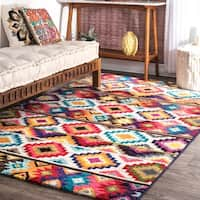 nuLOOM Retro Tribal Diamonds Multicolor Rug - 8' x 10'