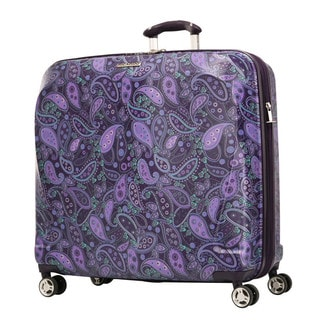 Ricardo Beverly Hills Mar Vista Purple Paisley 22-inch Horizontal Hardside Carry On Garment Spinner Suitcase