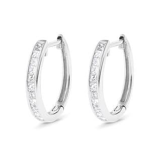 Luxurman 14k Gold 3/5ct TDW Princess-cut Diamond Hoop Earrings https://ak1.ostkcdn.com/images/products/10666174/P17731364.jpg?impolicy=medium
