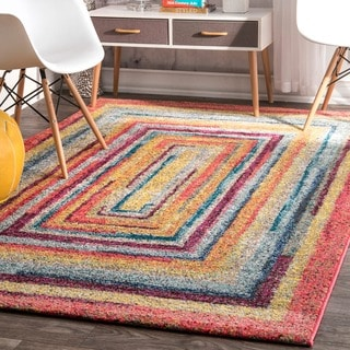 nuLOOM Contemporary Endless Doorways Multi Kids Rug (9' x 12')